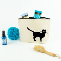 Black Cat Toiletry Bag
