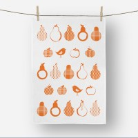 Pears Tea towel in Orange